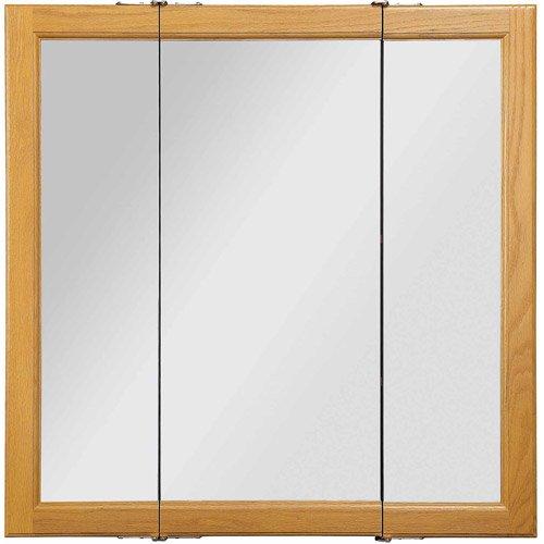 design house claremont honey oak triview medicine cabinet mirror with 3 doors