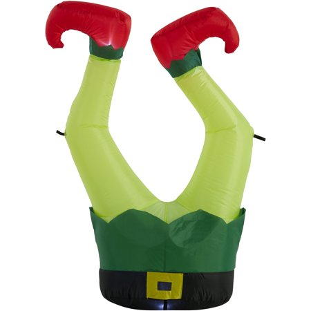 Holiday Time 3.5 ft. Inflatable Elf Legs, UL Listed Adapter, Blower, Tether Ropes and Stakes