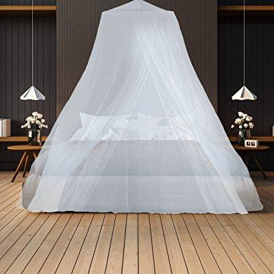 mosquito net keeps away insects & flies perfect for indoors and outdoors, playgrounds, fits most size beds, cribs - conical design, including hanging parts and a free carry bag to carry along