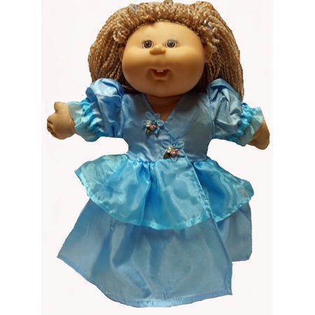 Baby Blue Pretty Dress Fits Cabbage Patch Kid And Baby - Well Dressed Kid