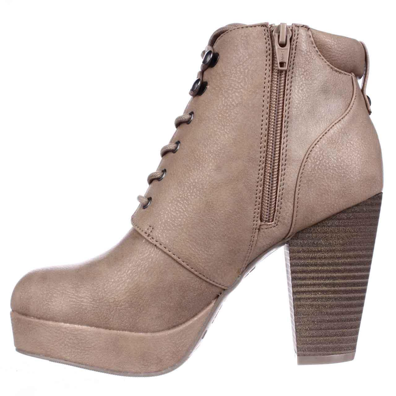 Womens MG35 Rheta Platform Ankle Boots - Tan