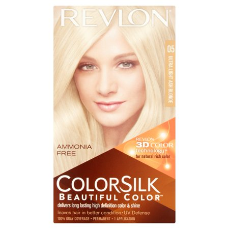 Revlon Colorsilk Beautiful Color Permanent Hair Color, Ultra Light ...