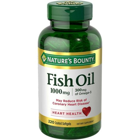 Nature's Bounty Fish Oil Omega-3, 1000 Mg + 300 Mg Omega-3, 220 Ct