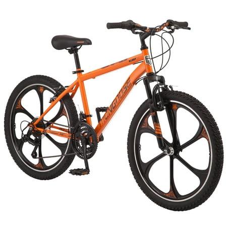 Mongoose Alert Mag Wheel mountain bike, 24-inch wheels, 7 speeds, orange