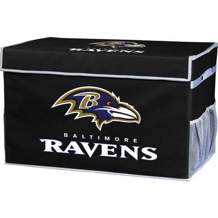 Franklin Sports NFL Baltimore Ravens Collapsible Storage Footlocker Bins - (Baltimore Stores)