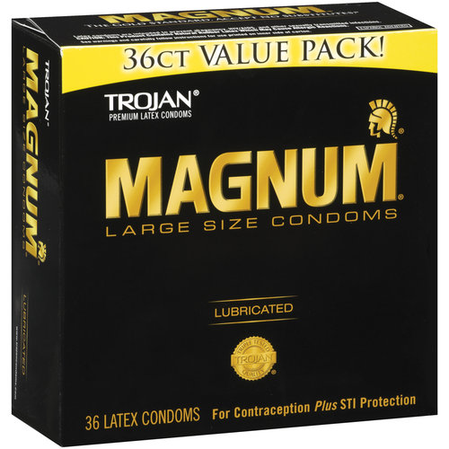 Magnum Large Size Lubricated Latex Condoms, 36ct