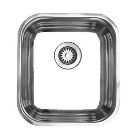 Whitehaus Whnu1614 Single Bowl Undermount Sink - Stainless Steel Whitehaus Stainless Steel Sink