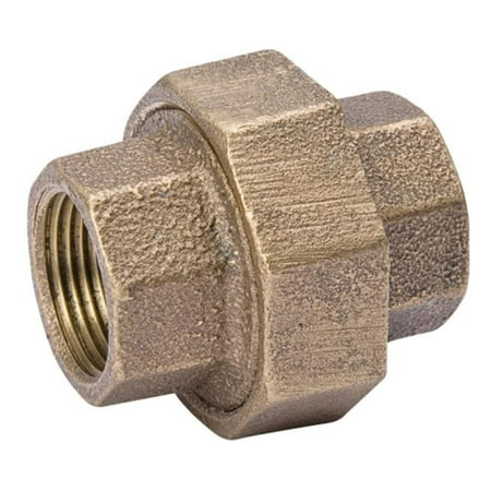 B And K Industries 459 003NL 1 2 Red Brass Union