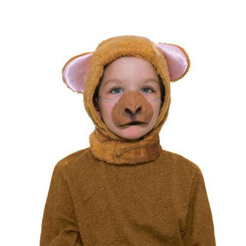 Monkey Hood & Nose Animal Costume Set Child Standard - Animae Costume