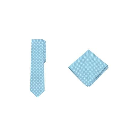 Jacob Alexander Polka Dot Print Men's Reg Tie Pocket Square Set](Polkadot Tie)