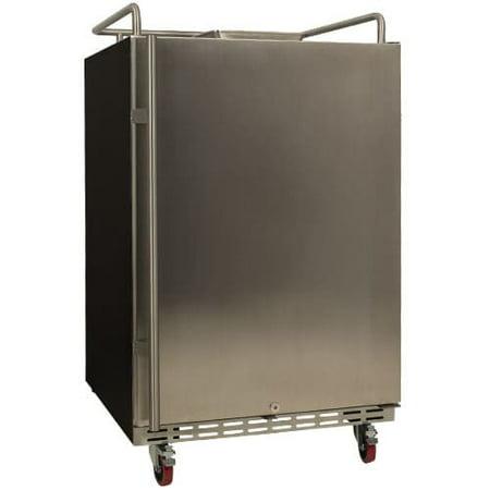 EdgeStar BR7001 24 Inch Wide Kegerator Conversion Refrigerator for Full Size Keg