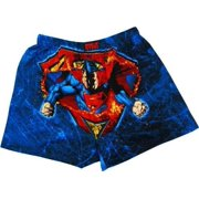 Superman Man of Steel Fire Boxers, Large