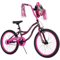 Huffy Kyro 20-inch Girls' Bike for Kids, Pink / Black Crackle