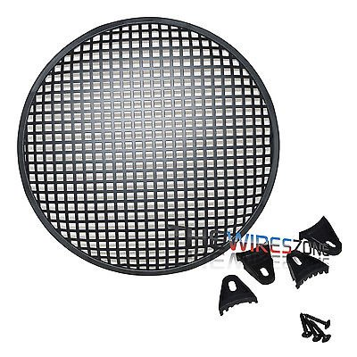 "12"" Steel Speaker Subwoofer Sub Woofer Waffle Mesh Grill Cover w/ Clips & Screws, Works with most 12 subwoofers By The Wires Zone"
