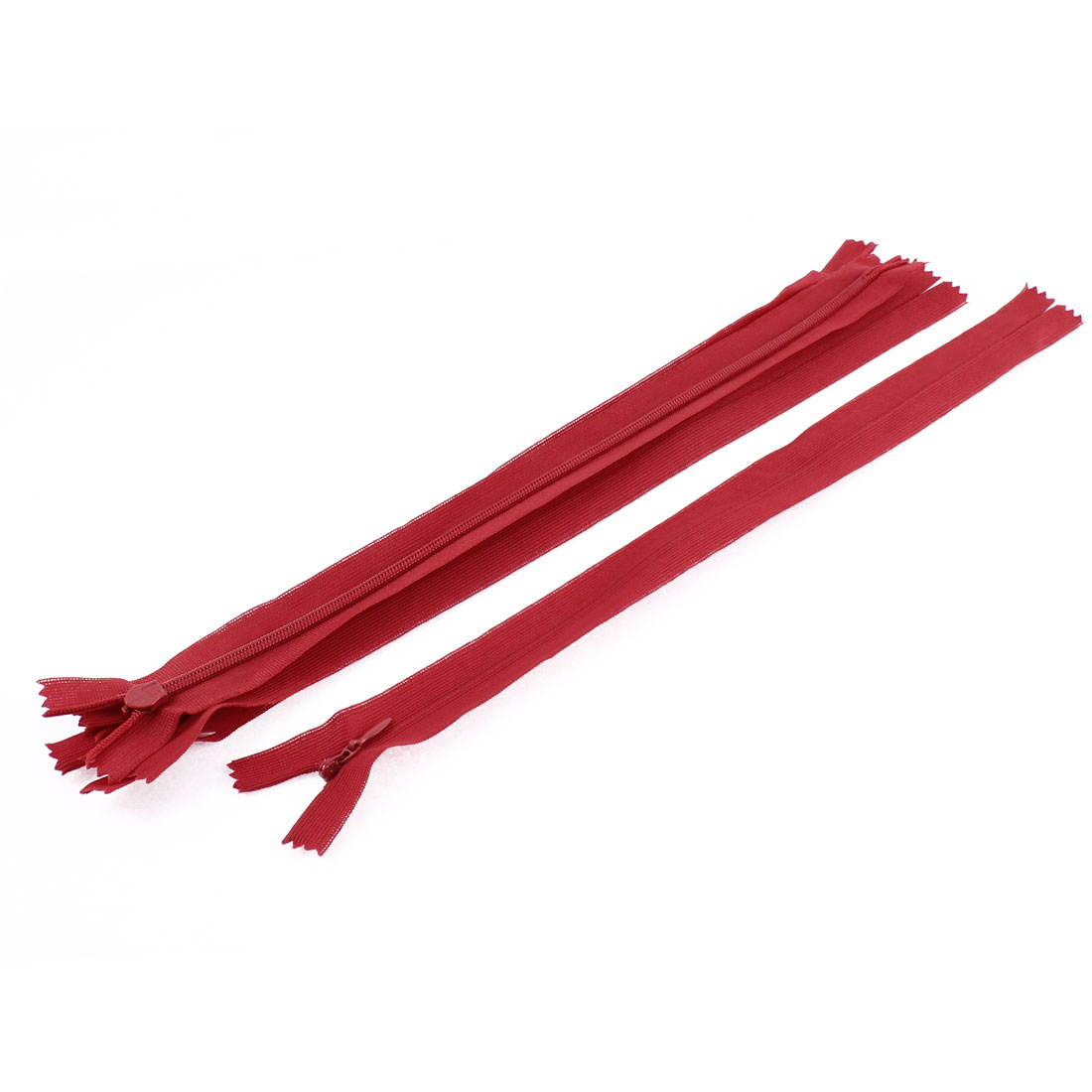 5 Pcs 12 Inch Long Red Nylon DIY Zippers Zips for Clothes Pants