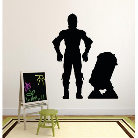 Kids Silhouette (Star Wars Movie Series Characters Children Kids Design Boy Girl Silhouette Custom Wall Decal Vinyl Sticker 12 Inches X 12)