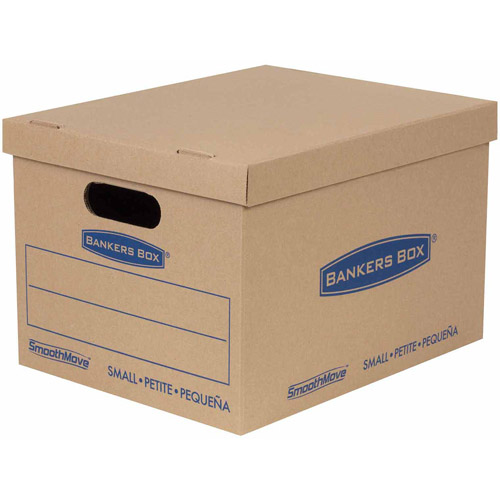 "Bankers Box Smoothmove Classic Moving Boxes, Small, 15""L x 10""W x 12""H, 10-Pack"