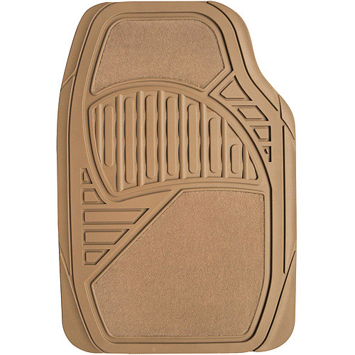 Auto Drive Carpet/Rubber Floor Mats, 4pk