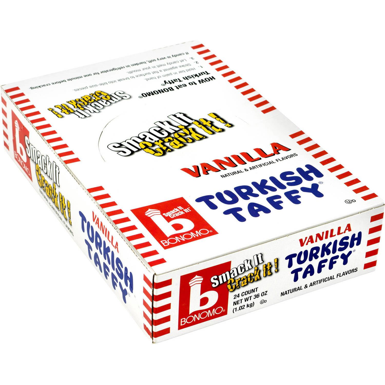 Bonomo Vanilla Turkish Taffy, 1.5 oz, 24 count by Bonomo Turkish Taffy