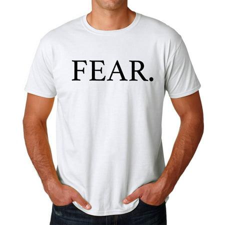Tee Bangers Fear  Rap Song Title Mens White T Shirt New Sizes S 2Xl