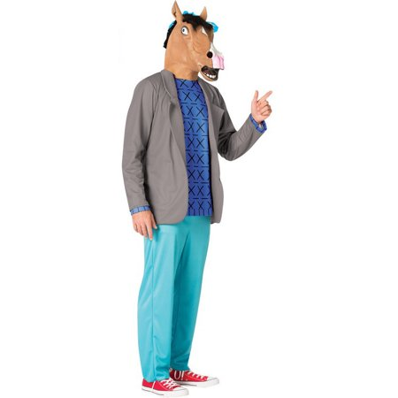 Bojack Horseman Men's Adult Halloween Costume, One Size, (40-46)](Disney Halloween Party Headless Horseman)