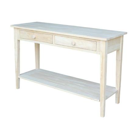 International Concepts Spencer Sofa Server Table, Unfinished Unfinished Wide Table