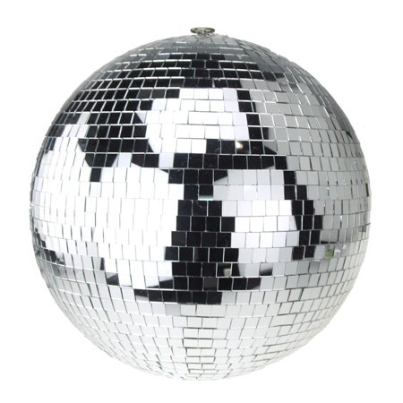 Hanging Mirror Disco Ball, Silver, 16-Inch
