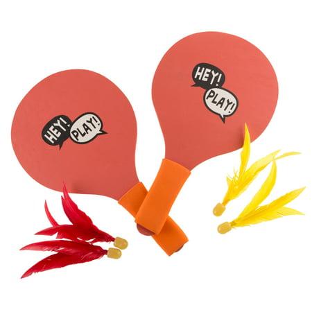 Kids Toy Racket Game Paddles Birdies Indoor Outdoor Backyard Basement House Fun