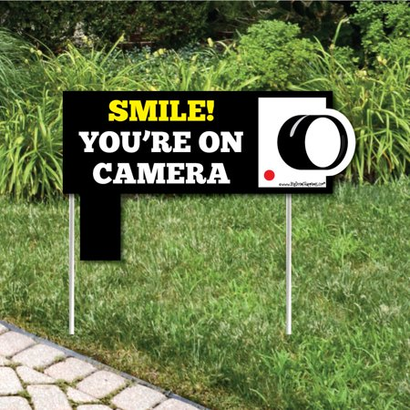 Security System Yard Sign - Yard Sign with Stakes - Outdoor Lawn Sign