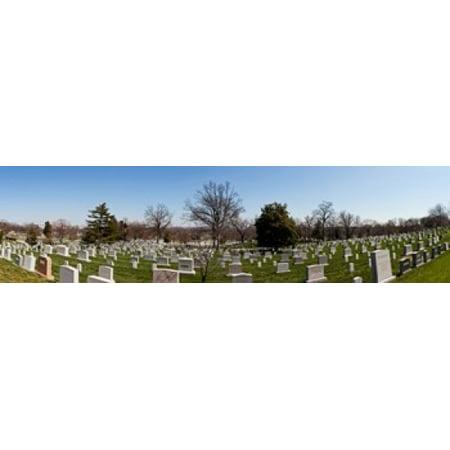 Tombstones In A Cemetery Arlington National Cemetery Arlington Virginia Usa Poster Print