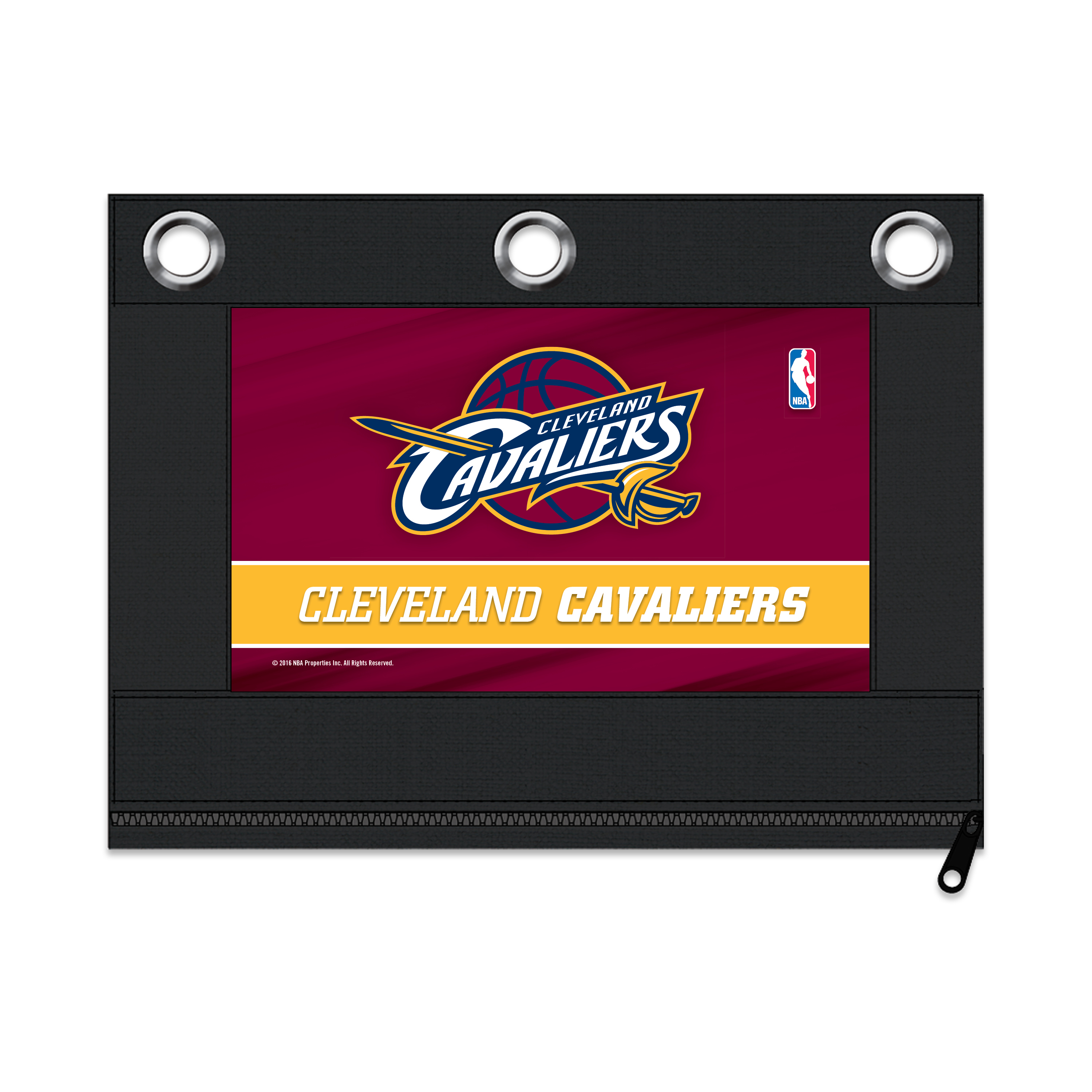 NBA Cleveland Cavaliers Zippered Pencil Pouch with Grommets