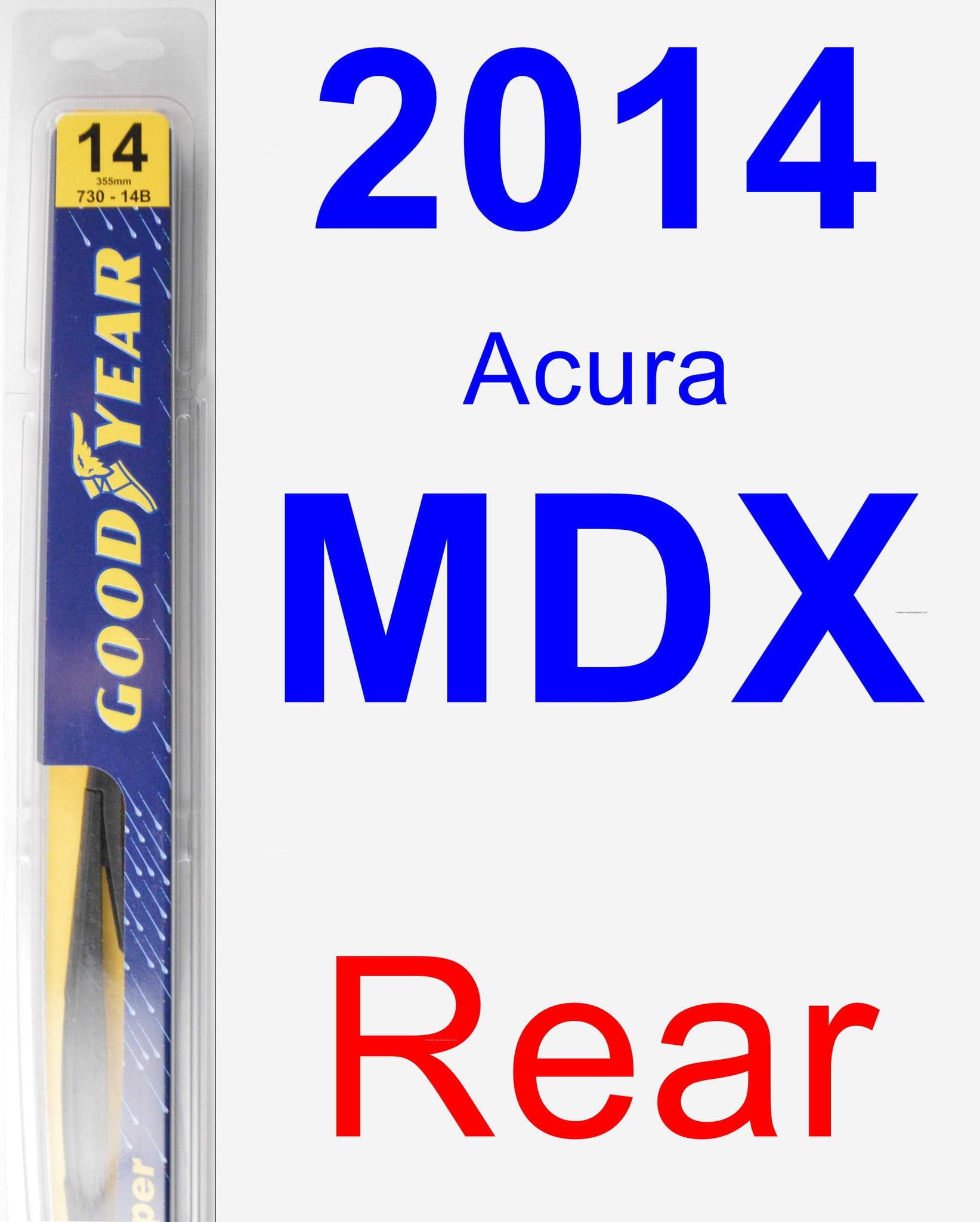 2014 Acura MDX Rear Wiper Blade