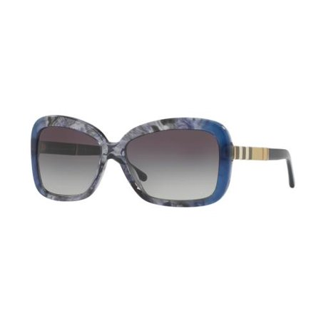 4d3a40127633 Burberry - BURBERRY Sunglasses BE4173 36138G Blue Gradient Striped 58MM -  Walmart.com