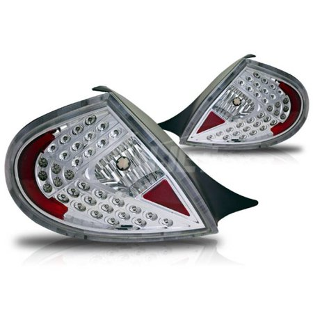 02 Dodge Neon Tail Lights (Winjet 2000-2002 Dodge Neon Chrome Clear Led Tail Light WJ20-0110-01)