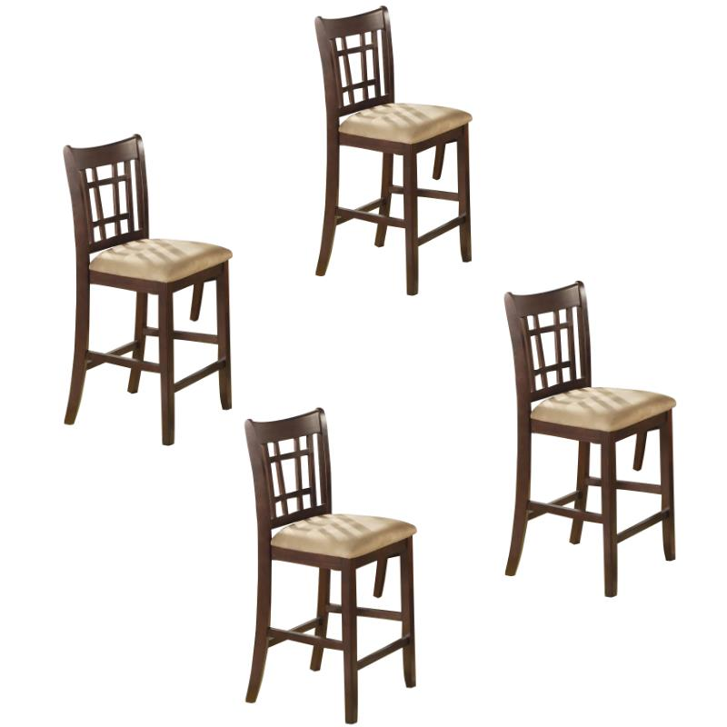"(Set of 4) 24"" Counter Stool in Rich Dark Cherry"