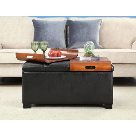 Prime Convenience Concepts Designs4Comfort Storage Ottoman With Trays Short Links Chair Design For Home Short Linksinfo