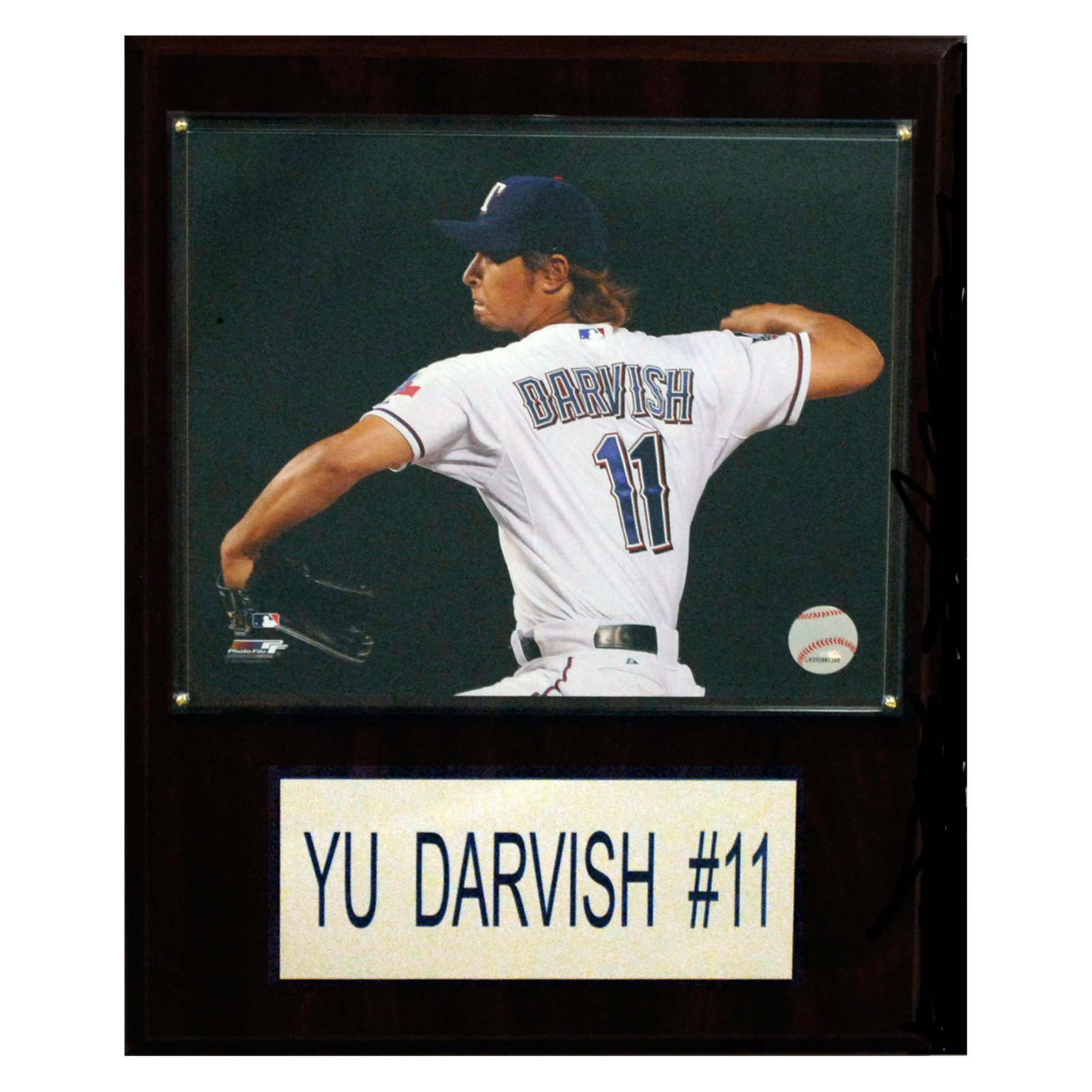 "C&I Collectibles MLB  Yu Darvish Texas Rangers Player Plaque 12""x15"""