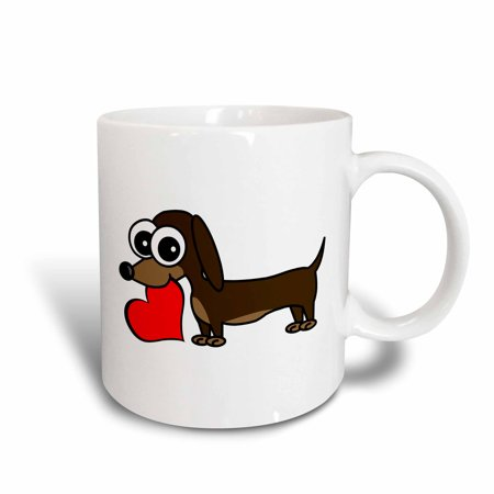 3dRose Dachshund Has My Heart, Ceramic Mug, 11-ounce
