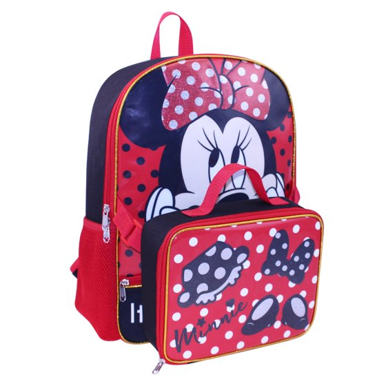 8bea64d534 Disney - DISNEY MINNIE MOUSE BACKPACK WITH LUNCH - Walmart.com