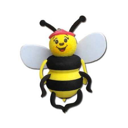 Tenna Tops Queen Bumble Bee Car Antenna Topper / Antenna Ball / Car Mirror Dangler