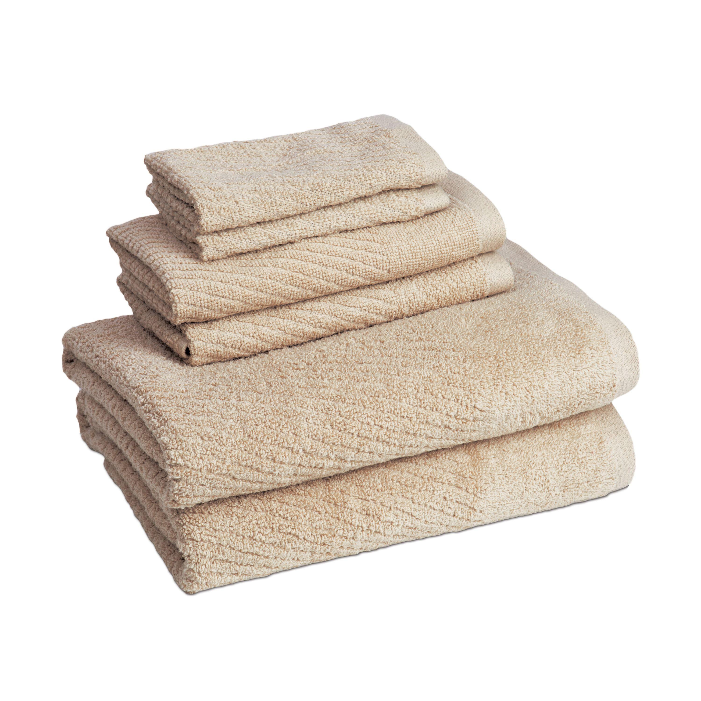 Image of Cambridge Quick Dry 6 Piece Towel Set In Linen