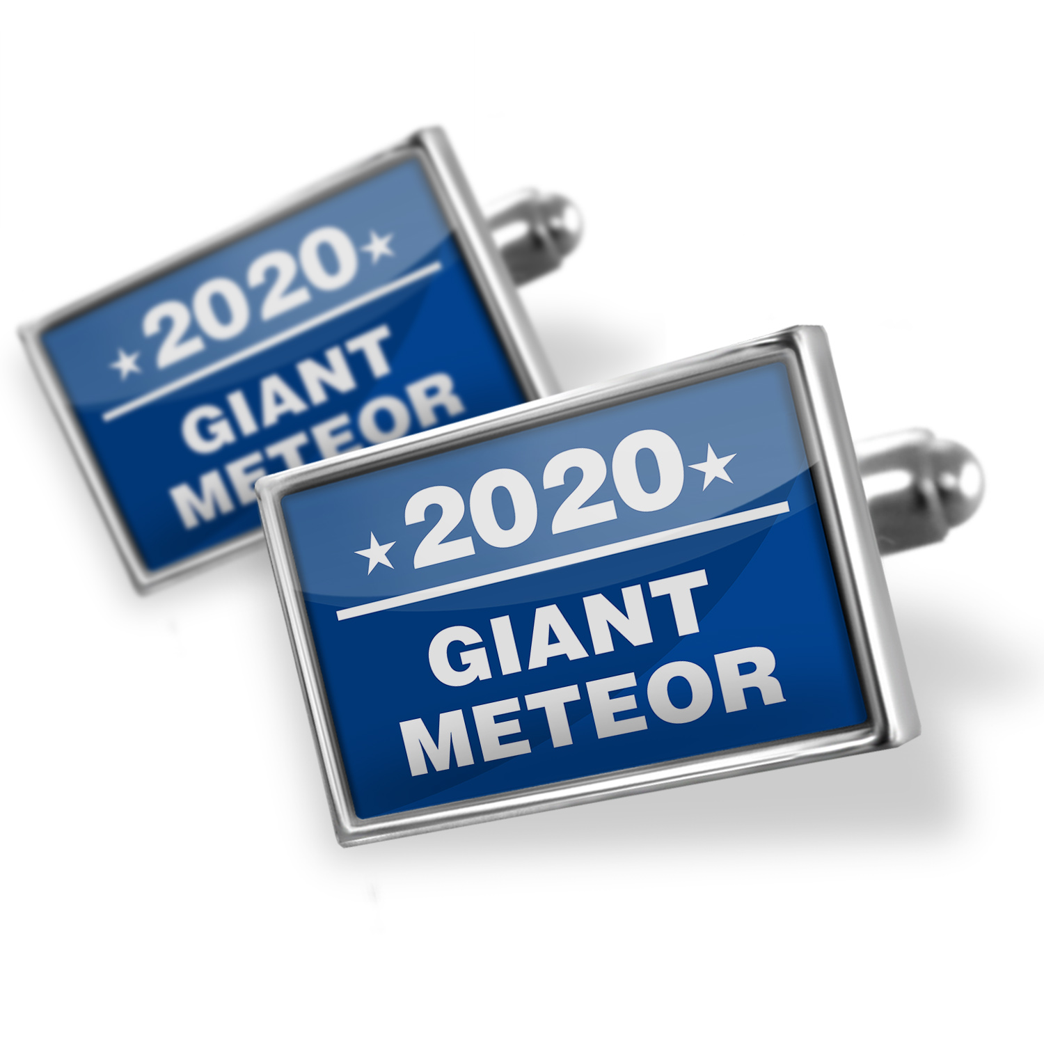 Cufflinks Funny Election Sign Giant Meteor 2020 - NEONBLOND