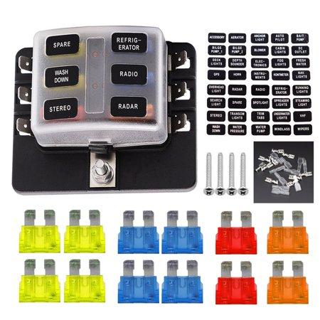 vetomile 6 way fuse box fuse holder 5a 10a 15a 20a fuses led vetomile 6 way fuse box fuse holder 5a 10a 15a 20a fuses led indicator