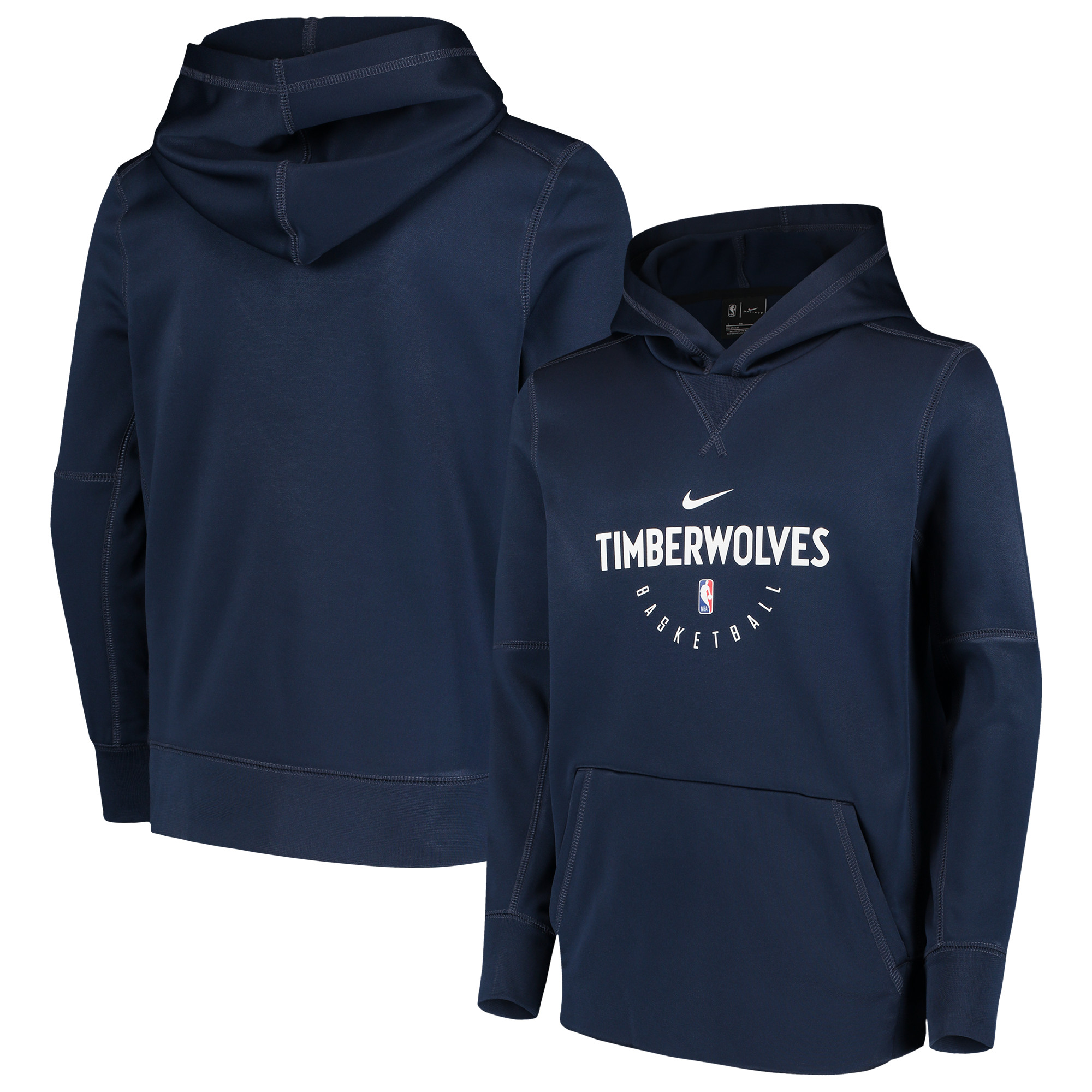 Minnesota Timberwolves Nike Youth Spotlight Performance Hoodie - Navy