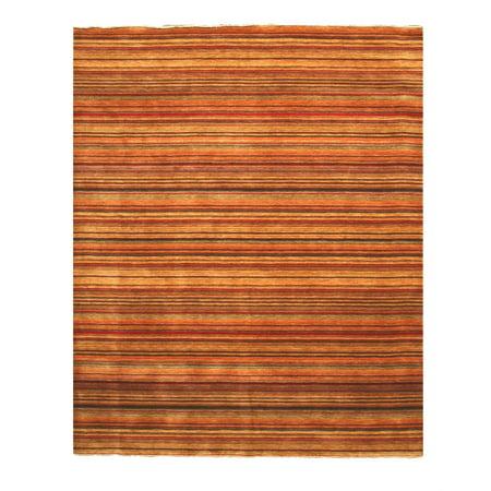 Handmade Wool Transitional Stripe Lori Toni Rug