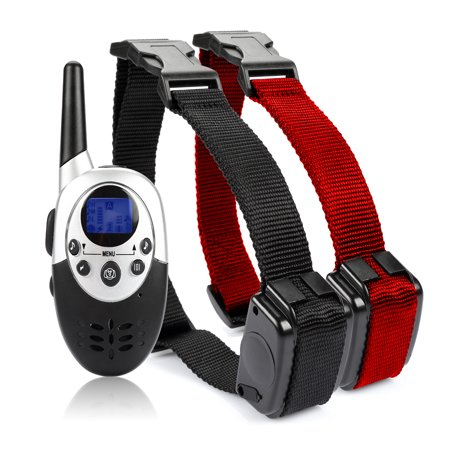 800 Meters  879 Yards  Rechargeable Dog Training Electric Collar With Remote   8 Levels Of Shock   Vibration For 2 Dogs