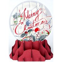 Up With Paper Merry Christmas Snowglobe Pop-Up Christmas Card