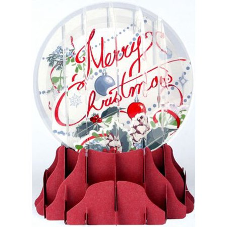 Up With Paper Merry Christmas Snowglobe Pop-Up Christmas Card - Easy Halloween Pop Up Cards