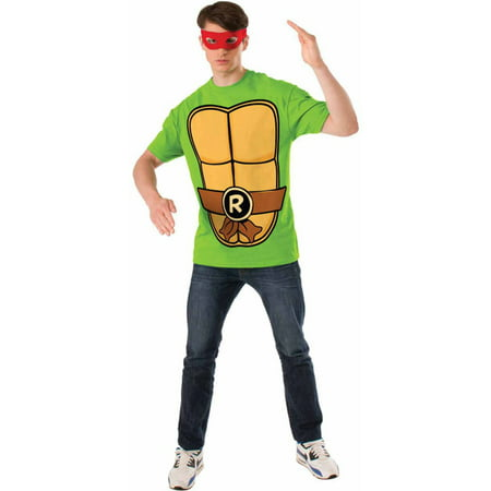 Teenage Mutant Ninja Turtles Raphael T-Shirt Kit Men's Adult Halloween Costume (Ninja Turtle Costume Shirt)
