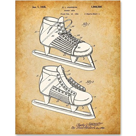 8893db4677c63 Hockey Skate - 11x14 Unframed Patent Print - Great Gift for Hockey Players  and Fans